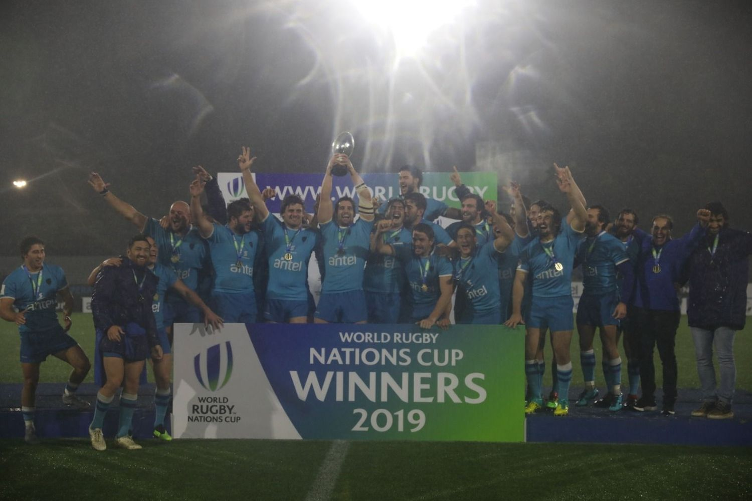 World Rugby Nations Cup 2019 trophy lift: Uruguay