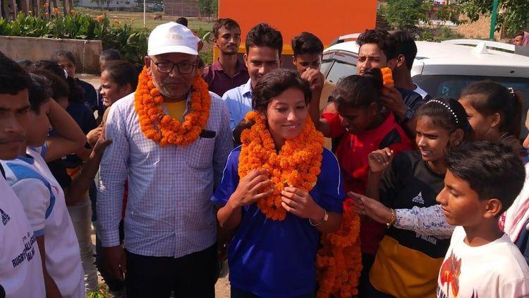 Sweta Shahi - India's first test celebrations