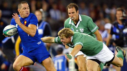 Try Savers: O'Driscoll's try saver and turnover v France at RWC 2003