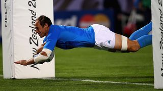 Italy Best Bits: Sergio Parisse scores for Italy at Rugby World Cup 2011