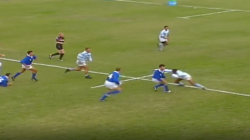 Italy Best Bits: Paolo Vaccari scores great try for Italy at Rugby World Cup 1995