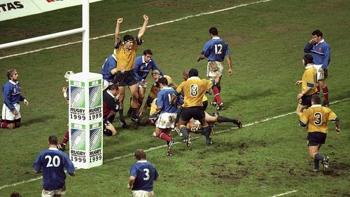 Australia Best Bits: Owen Finegan scores in final of Rugby World Cup 1999