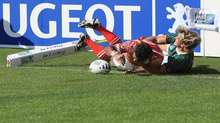 Tonga Best Bits: Sukanaivalu Hufanga latches onto great cross kick at RWC 2007