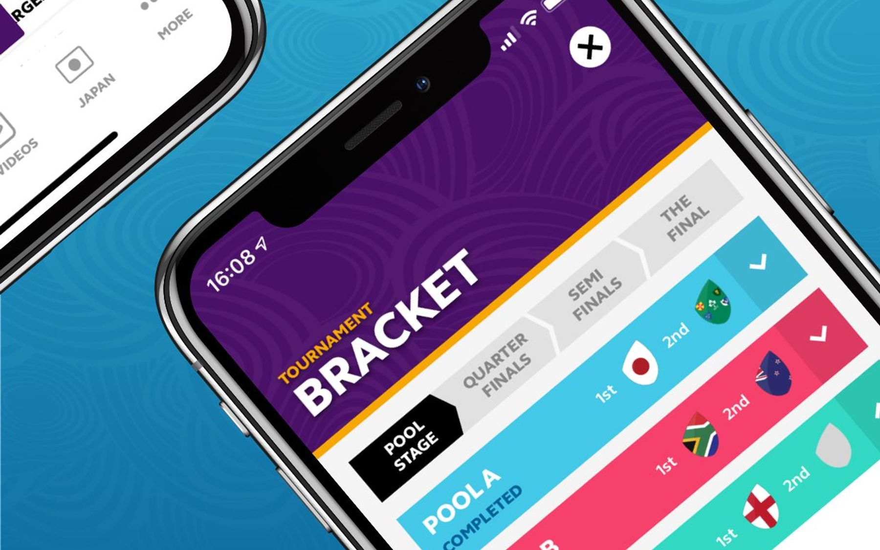 Tournament bracket app visual