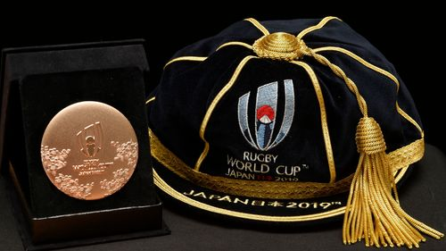 Rugby World Cup 2019 Participation Medal and Cap