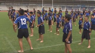 Kids welcome New Zealand with brilliant Haka