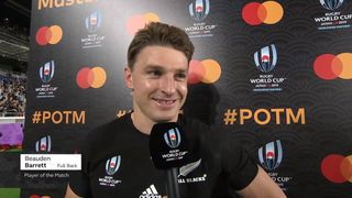 Beauden Barrett wins Mastercard Player of the Match against South Africa
