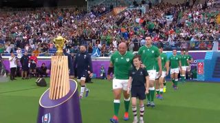 Ireland and Scotland team walk-outs