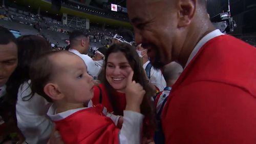 Nasi Manu shares a moment with his Family