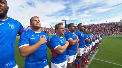 Namibia sing first national anthem at Rugby World Cup 2019