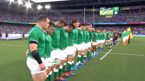 Ireland's first national anthem at Rugby World Cup 2019