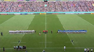 Italy's first National Anthem at Rugby World Cup 2019