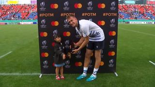 Federico Ruzza wins Mastercard Player of the Match against Namibia