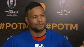 Alapati Leiua wins Mastercard Player of the Match for Samoa