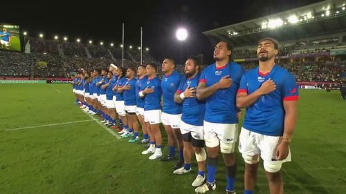 Samoa sing first national anthem of #RWC2019