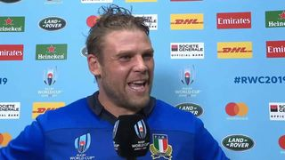 Italy captain Dean Budd on second win at Rugby World Cup 2019