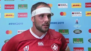 Canada captain Tyler Ardron post-match interview