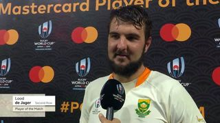 Lood de Jager wins Mastercard Player of the Match v Namibia
