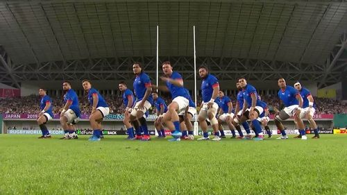 Samoa's amazing Siva Tau against Scotland