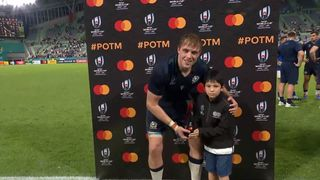 Jonny Gray wins Mastercard Player of the Match for Scotland