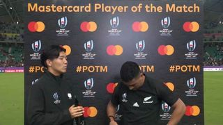 Richie Mo'unga wins Mastercard Player of the Match against Canada