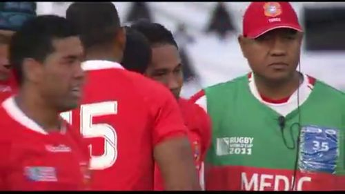 Rugby World Cup 2011: Suka Hufanga scores for Tonga against Les Bleus