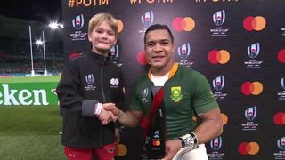 Kolbe wins Mastercard Player of the Match for RSA v ITA