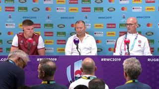 Jones and Farrell talk to the press after the Argentina match