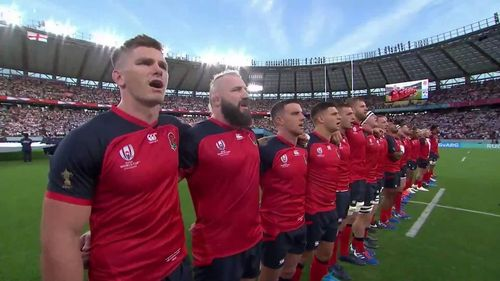 England's passionate national anthem at Rugby World Cup 2019