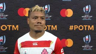 Lomano Lemeki wins Mastercard Player of the Match for Japan