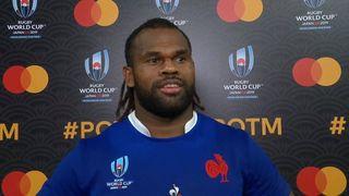 Alivereti Raka wins Mastercard Player of the Match for France v Tonga