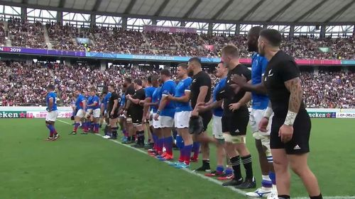 All Blacks and Namibia bow to crowd