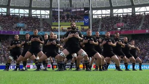 All Blacks perform fierce haka