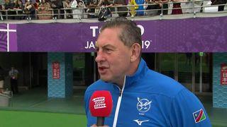 Namibia head coach Phil Davies