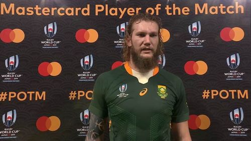 RG Snyman wins Mastercard Player of the Match