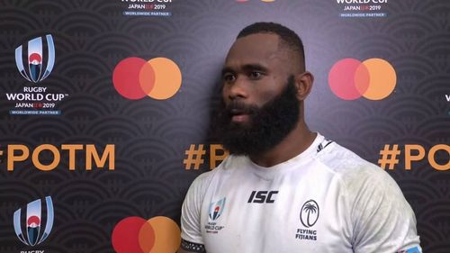Semi Radradra wins Mastercard Player of the Match for Fiji
