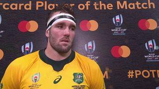 Izack Rodda wins Mastercard Player of the Match for Australia