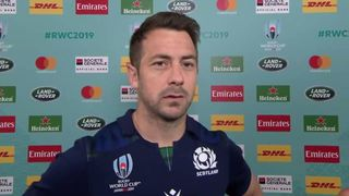 Scotland Captain Greig Laidlaw reacts after tough loss to Japan