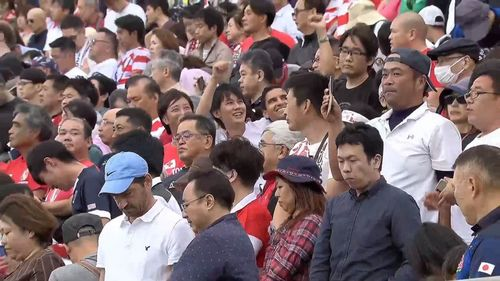 Moment's silence observed ahead of USA v Tonga at Rugby World Cup 2019