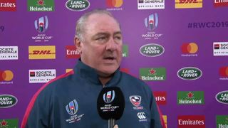 Gary Gold after USA's last match at Rugby World Cup 2019