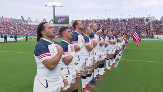 USA sing their last national anthem at Rugby World Cup 2019
