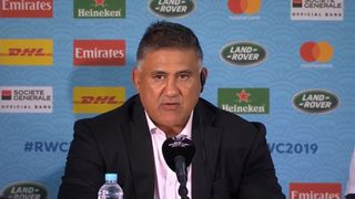 Japan head coach Jamie Joseph on Typhoon Hagibis
