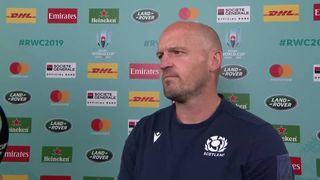 Gregor Townsend reacts after huge game against Japan
