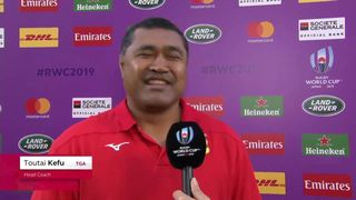 Tonga head coach Toutai Kefu hilarious answer