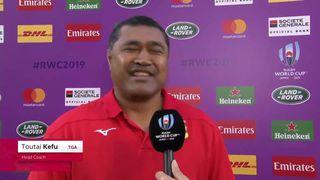Tonga head coach Toutai Kefu hilarious answer