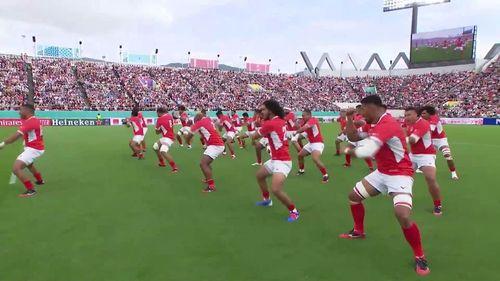 Tonga's powerful Sipi Tau v USA