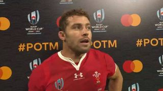 Leigh Halfpenny wins Mastercard Player of the Match for Wales