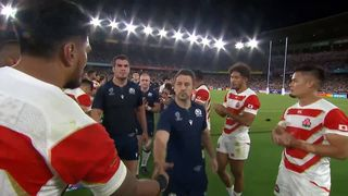 Great respect shown between Japan and Scotland