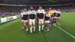 Crowd roars as Japan walk into changing rooms