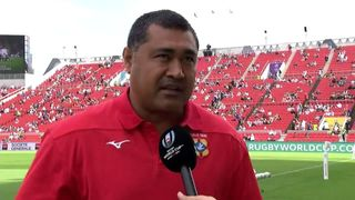 Tonga head coach Toutai Kefu on finishing RWC with a win